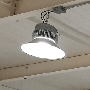 iluminación led área bodega